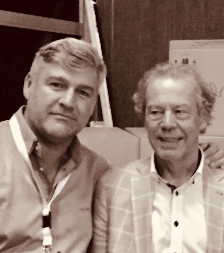 Con el maestro Cober durante el WMC de Kerkrade en 2017